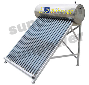 Integrated non pressurized compact Solar Water Heater