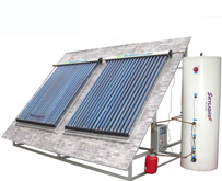Low Pressure Compact Heat Pipe Solar Water Heater