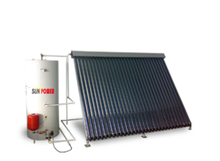 stainless steel heat pipe solar water heater system
