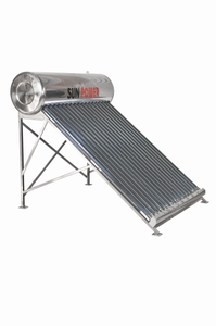 Low Pressure compact vacuum tube Solar Water Heater