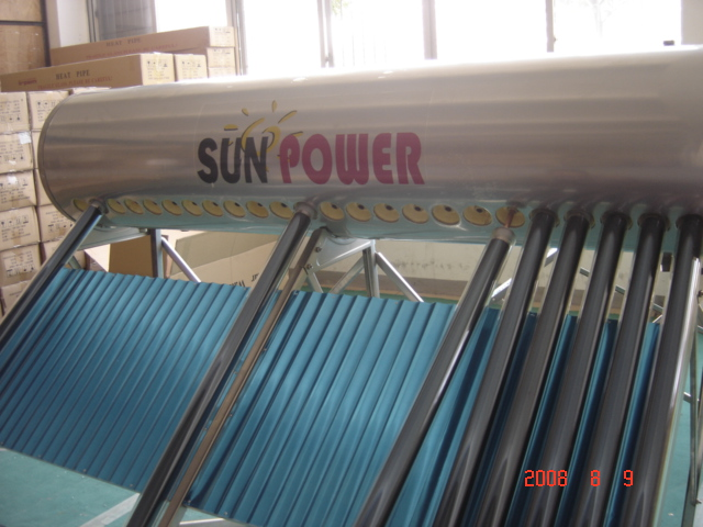 High Pressure compact vacuum tube solar water heater (SPP)
