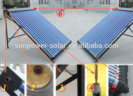 Glass Heat Pipe Residential Solar Water Heater