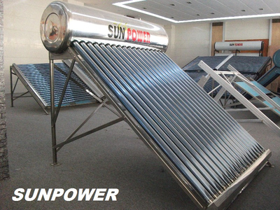 Non-Pressure commercial vacuum tube Solar Water Heater