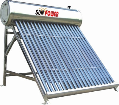 Compact Commercial Evacuated Tube Solar Water Heater